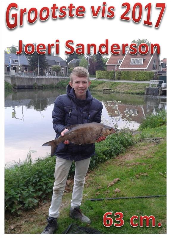 Grootste vis 2017 Joeri Sanderson